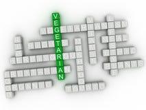 concetto vegetariano della nuvola di parola di imagen 3d Fotografie Stock Libere da Diritti