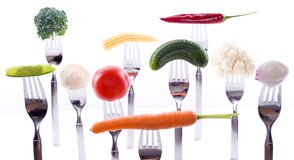 Concetto vegetariano sano Fotografia Stock