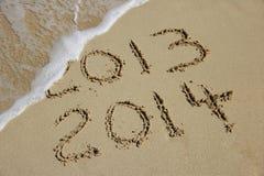 Concetto venente del nuovo anno 2014 Fotografia Stock