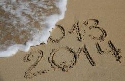 Concetto venente del nuovo anno 2014 Fotografie Stock Libere da Diritti