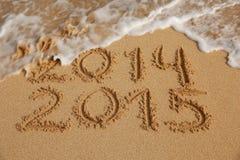 Concetto venente del nuovo anno 2015 Fotografia Stock Libera da Diritti