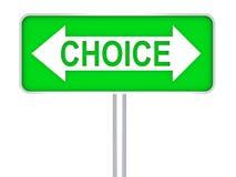 Concetto verde Choice del segnale stradale 3d Immagine Stock Libera da Diritti