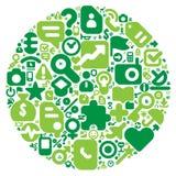 Concetto verde del mondo umano royalty illustrazione gratis