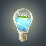Concetto verde del pianeta Ambiente pulito di ecologia della natura del generatore eolico fotografie stock libere da diritti