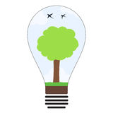 Concetto verde della lampadina di idea di energia Fotografie Stock Libere da Diritti