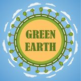 Concetto verde della terra del pianeta Immagine Stock