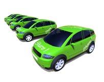 Concetto verde di concetto di car sharing Illustrazione Vettoriale