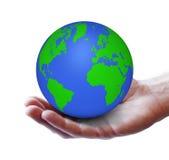 Concetto verde di ecologia del mondo Fotografie Stock Libere da Diritti
