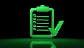 Concetto verde di elezione di voto con l'illustrazione originale del carattere 3D Fotografia Stock