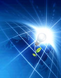Concetto verde di energia immagine stock