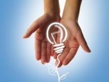 Concetto verde di energia Immagini Stock