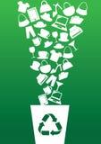 Concetto verde di riciclaggio e di consumismo Fotografie Stock