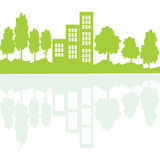 Concetto vivente di Eco in specchio Fotografia Stock