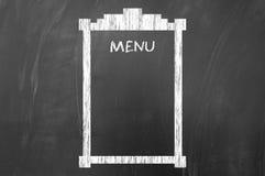 Concetto vuoto del menu sulla lavagna Fotografia Stock