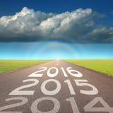 Concetto vuoto della strada a 2016 imminente Immagini Stock Libere da Diritti