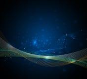 Concetto Wave-digitale futuristico astratto di tecnologia Immagini Stock