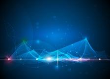 Concetto Wave-digitale futuristico astratto di tecnologia illustrazione vettoriale
