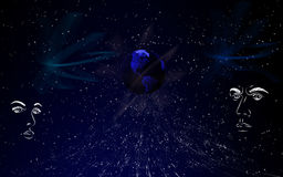 Concettuale blu Fotografia Stock