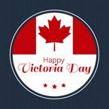 Concevez la carte de voeux d'illustration de vecteur de Victoria Day heureuse Images libres de droits