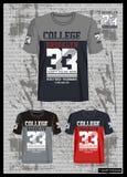 Concevez la collection de T-shirt de calibre de vecteur pour les hommes 006 Photos libres de droits