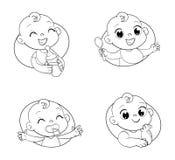 Concevez le calibre pour l'aliment pour bébé et badinez le magasin du ` s de produits d'hygiène et d'enfants illustration stock