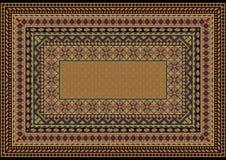 Concevez le tapis classique avec de divers modèles pour encadrer aux nuances brun clair Photos libres de droits