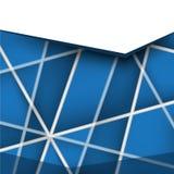 Concevez le tract de brochure avec les lignes de intersection matière de base plate de disposition Image libre de droits