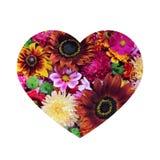 Concevez les cartes de voeux dans la forme de coeur, d'isolement sur le backgrou blanc Image stock