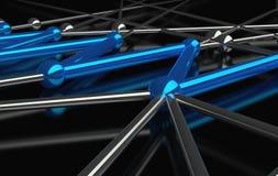 concezione 3d della rete e della comunicazione Fotografia Stock