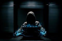 Concezione astratta del pirata informatico Fotografia Stock