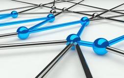 Concezione astratta della rete e della comunicazione Fotografie Stock