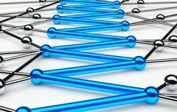 Concezione astratta della rete e della comunicazione Immagini Stock Libere da Diritti