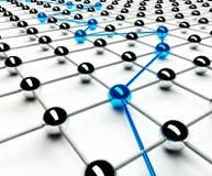 Concezione astratta della rete e della comunicazione Immagini Stock