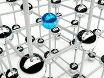 Concezione della rete e della comunicazione della struttura Fotografia Stock