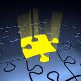 Concezione di direzione. Puzzle Fotografia Stock