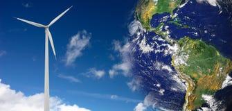 Concezione di energia di vento Immagini Stock