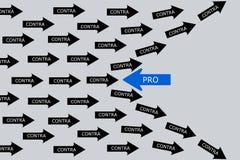 Concezione di pro e contro fotografie stock libere da diritti