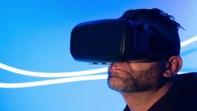 Concezione di realtà virtuale di VR stock footage
