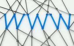 Concezione di WWW, comunicazione nella rete di Web Fotografie Stock Libere da Diritti