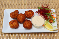 Conch fritters Stock Images