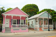 Conch houses. Typical houses in the conch style architecture in Key West, Florida Royalty Free Stock Images