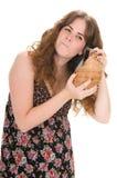 conch isolerad marin- vit kvinna Royaltyfri Bild