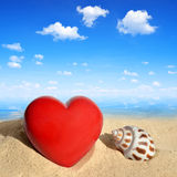 Conch shell with heart Royalty Free Stock Image