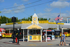 Conch Tour Train tickets booth in Key West Stock Photo