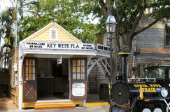 Conch Train and Termonal, Key West Florida Stock Photo