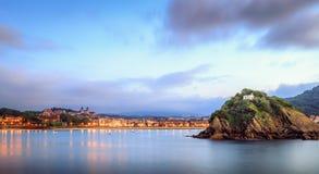Concha Bay au coucher du soleil Images libres de droits