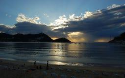Concha Bay and Concha Beach. S Royalty Free Stock Photo