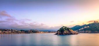 Concha Bay en la puesta del sol Foto de archivo libre de regalías