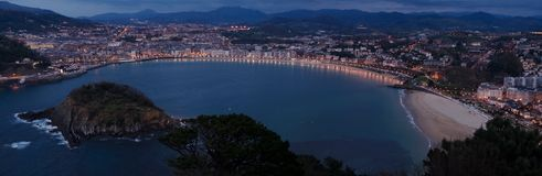 Concha bay in San Sebastian Stock Photo