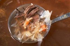 Concha com carne Imagem de Stock Royalty Free